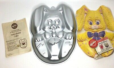 Wilton Sunny Bunny Rabbit Cake Pan 2105-2435 Vintage w/ Instruction Book Easter Easter Bunny Cake Pan