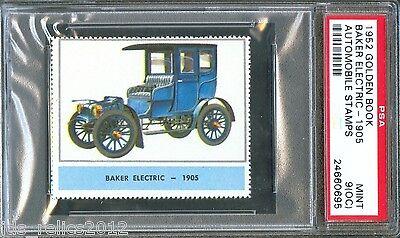 1952 Golden Book Automobile Stamps 1905 BAKER ELECTRIC Car Mint PSA 9 oc