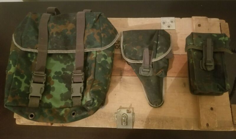 Bundeswehr Flecktarn Buttpack, Pistol Pouch and Magazine Carrier