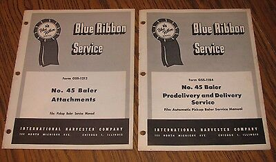 Ih International 45 Hay Baler Attachment Delivery Blue Ribbon Service Manual