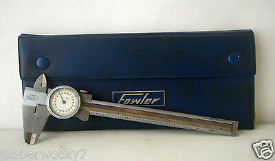 Vintage Fowler Stainless Steel 6 Dial Caliper .001 Made In Germany