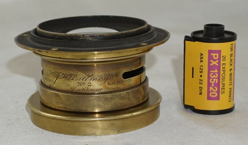 J.H. Dallmeyer 12x15 Wide Angle Rectilinear No. 2 ULF Brass Lens from 1887
