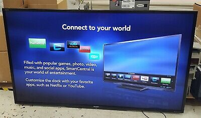 "Sharp LC-90LE745U AQUOS 90"" LED Smart 3D TV 240Hz Blemishes w/o Stand or Remote"