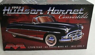 1952 Hudson Hornet Convertible Plastic Model-1:25th Scale-from Moebius Models