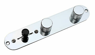 Fender Esquire Tele Telecaster Eldred Mod Loaded 3 way Control Plate, Chrome