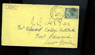 Us Advertising Cover  A Lebar  Md Druggist  1883 Stroudsburgh  Pa  Good Cancel