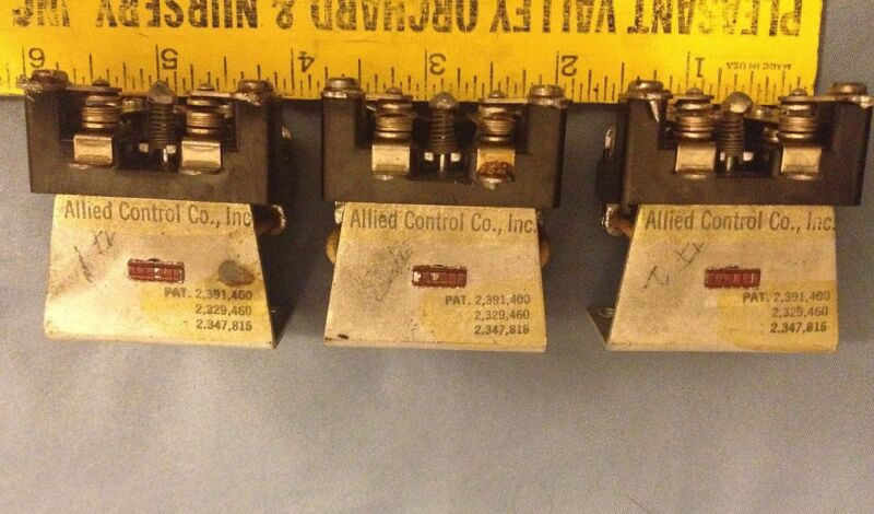 Lot of 4 Vintage Allied Controls Relays - Gould?, Kepco - Used