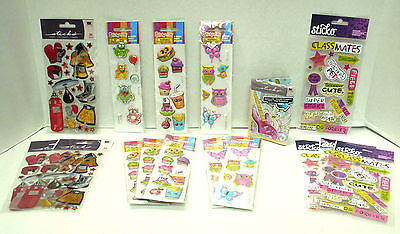 Boxing Gear  Classmates  Stationery Kit  Super Puffy Stickers   Lot Of 16