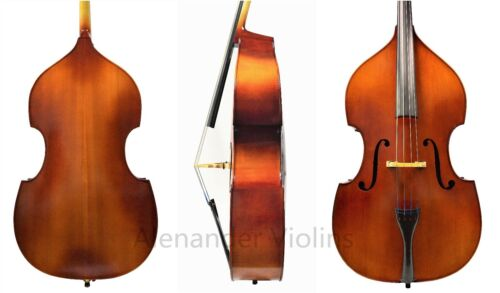 HAND MADE SOLID WOOD 4/4 UPRIGHT BASS, PROFESSIONAL SET UP+ADJUSTABLE BRIDGE