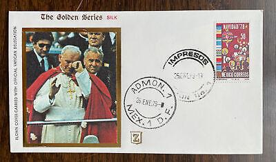 Mexico #1165 Golden Series Flown Cover John Paul II