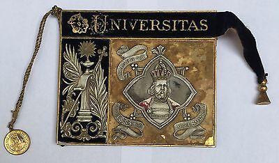 BALLSPENDE WIEN 1892 UNIVERSITÄT CARNET DE BAL NOTIZBLOCK NOTIZBUCH RUDOLF IV