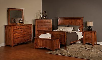 Luxury Amish Rustic Panel Boulder Creek Bedroom Set Solid Wood ...