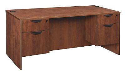 Legacy 60 Double Pedestal Desk- Cherry