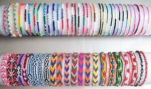 Mixed-Designs-FRIENDSHIP-BRACELET-Cotton-Surfer-Wristband-Hippy-Boho-Surf-Gift