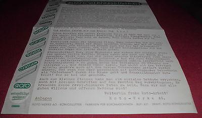 blatt alt roto ag mitteilungen firmenansicht briefkopf büro reklame werbung 1953