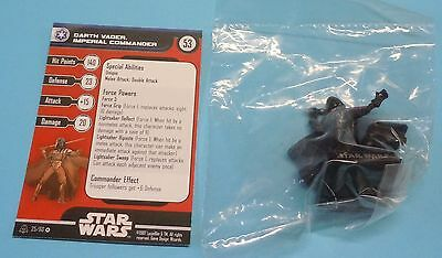 Star Wars Miniatures Alliance Empire Darth Vader Imperial Commander #25/60 NEW