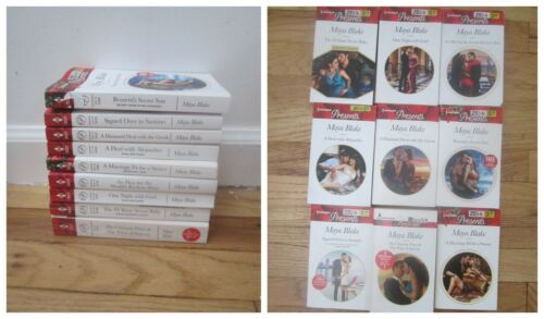 Lot of 9 Harlequin Presents  Romance Paperback Books by Maya Blake