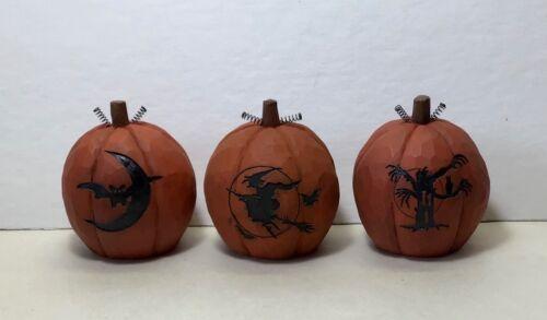 Blossom Bucket Halloween Pumpkins set of 3 - New