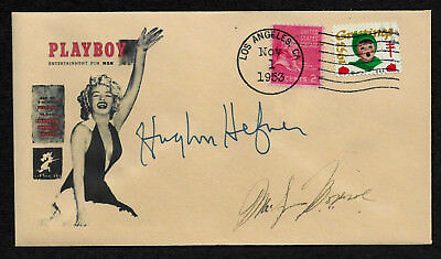 1St 1953 Playboy Hugh Hefner Autograph Reprint On Collectors Envelope Xs1193