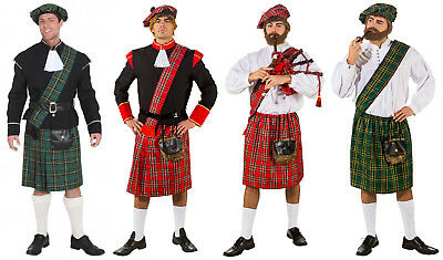 Schotte Schottenkostüm Schottenrock Jacke Rock Highlander Kostüm Herren Mütze