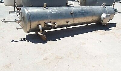 900 Gallon 304 Stainless Steel Cone Bottom Settling Tank