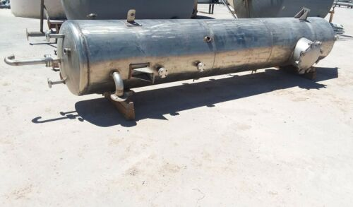 900 Gallon 304 Stainless Steel Cone Bottom Settling Tank