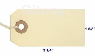 1000- 3 14 X 1 58 Size 2 Manila Inventory Shipping Hang Tags With String
