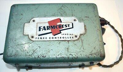 1945 Gambles Farmcrest Fence Controller Electric Fence Box Implement