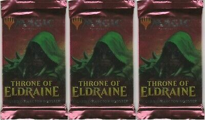 3-Magic The Gathering MTG THRONE OF ELDRAINE Collector Edition Booster FOIL PACK