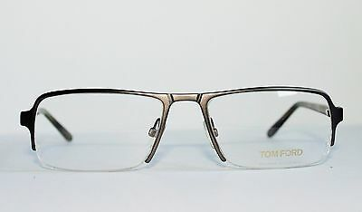 NEW TOM FORD TF5110 009 SEMI RIMLESS GUNMETAL AUTHENTIC EYEGLASSES RX 53-17-135
