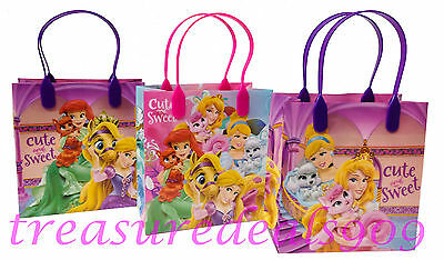12 PC DISNEY PRINCESS GOODIE BAGS PARTY FAVORS CANDY LOOT TREAT BIRTHDAY BAG NEW - Disney Princess Goodie Bags