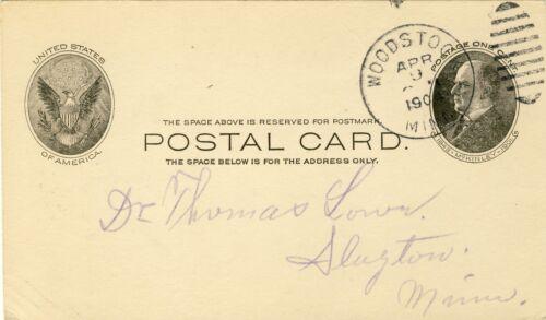 1904 ANTIQUE POSTAL CARD MEDICAL DOCTOR THOMAS LOWE SLAYTON MINNESOTA #15