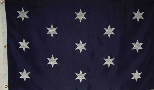 HEAVY DUTY 600D GENERAL GEORGE WASHINGTON HEADQUARTERS FLAG - SEWN DETAILS