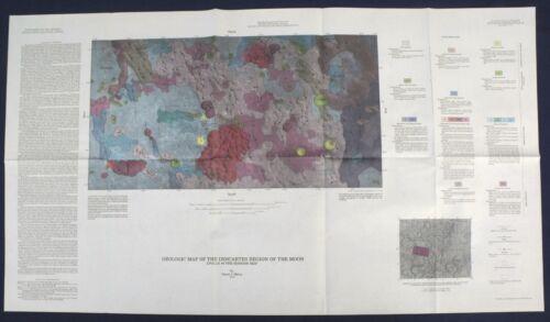 APOLLO 16 LANDING SITE GEOLOGIC MAPS Vintage PRE-MISSION 2-Map Set Perfect! 1972