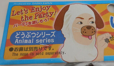 Dog Nose Mask Halloween (NEW Daiso Doggy Mask and Squeaky Doggy Nose - Costume H075 Halloween Adult)