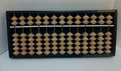 Vintage Wood Daruma Soroban Abacus Japan Wooden