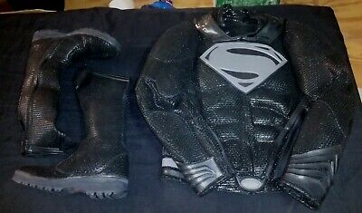 UD Repliken Man Of Steel Superman Traum Sequence Anzug Lederjacke Hose Stiefel