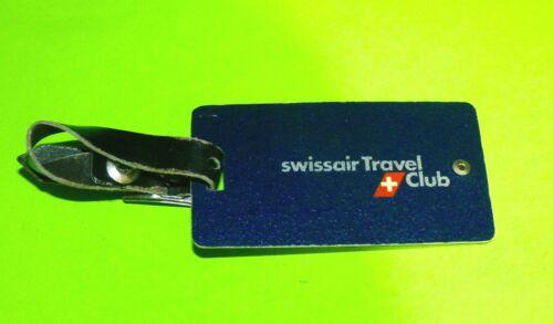 Swissair Travel Club Vintage Blue Luggage Tag Swiss Airlines Switzerland