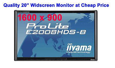 "Cheap 20"" INCH iiyama Widescreen LCD Monitor 1600 x 900 No Stand"