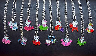 Sternzeichen Kinderkette mit Hello Kitty Halskette Weihnachts Geschenk Stier Neu Hello Kitty Weihnachten