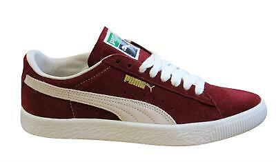Puma Suede 90681 Burgundy Leather Lace Up Low Top Mens Trainers 365942 09