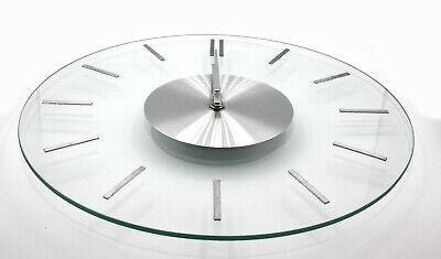 Glasuhr elegante Wand-Uhr aus Glas modern Edelstahl durchsichtig 31cm Zeitlos