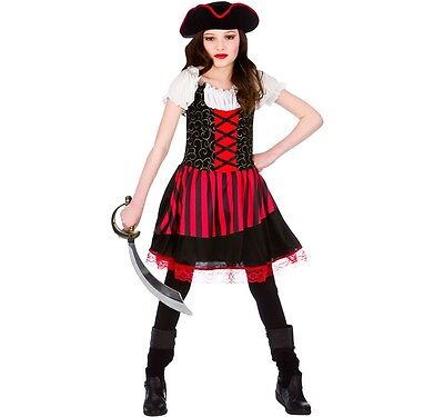 Childrens Fancy Dress Pretty Pirate Girl Costume Childs Pirate Outfit New w ()