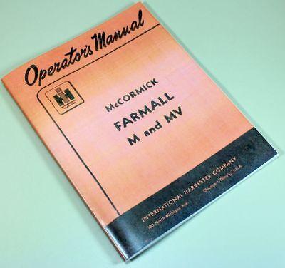 International Farmall M Mv Tractor Owners Operators Manual Ihc Printed Ih Carb
