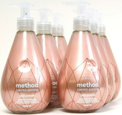6 Bottles Method 11.97 Oz Limited Edition Pink Pomelo Aloe Vera Liquid Hand -