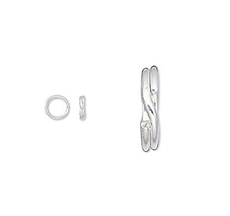 10 Sterling Silver Split Rings Double Ring Key Ring Type 4mm 5mm 6mm 7mm 8mm