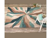 NEw Thick modern teal rug