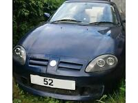 MG TF 135 with long mot convertible 2 seater sports car