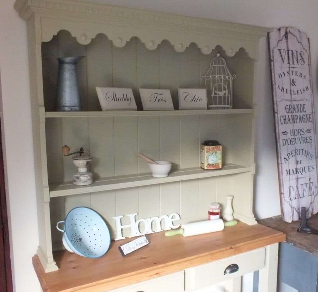 French Kitchen Dresser: Solid Rustic Vintage French Style Country Pine & Oak