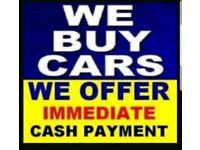 Wanted cars, immediate payment, trade prices paid.